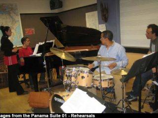 with Danilo Perez, Panama Suite Rehearsal, Boston 2006